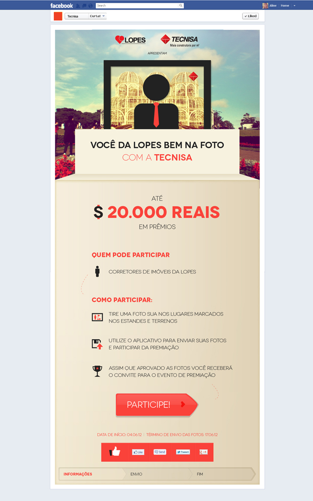 Aplicativo para Facebook - Lopes + Tecnisa
