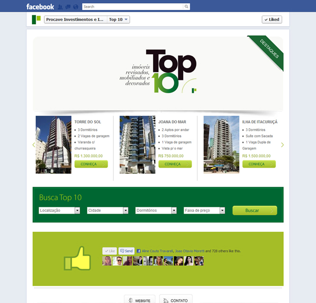 Aplicativo para Facebook | Procave | Top 10